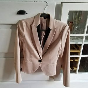 Express Fitted Blush Blazer Suit Jacket